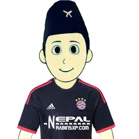 Bayern Munich FC Fan From Nepal - Without Nepal Flag - JPEG