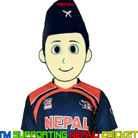 I'm Supporting Nepali Cricket png