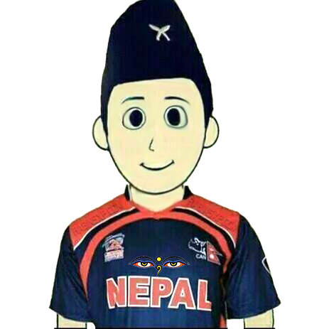 Nepali Cricket Boy - with no flag
