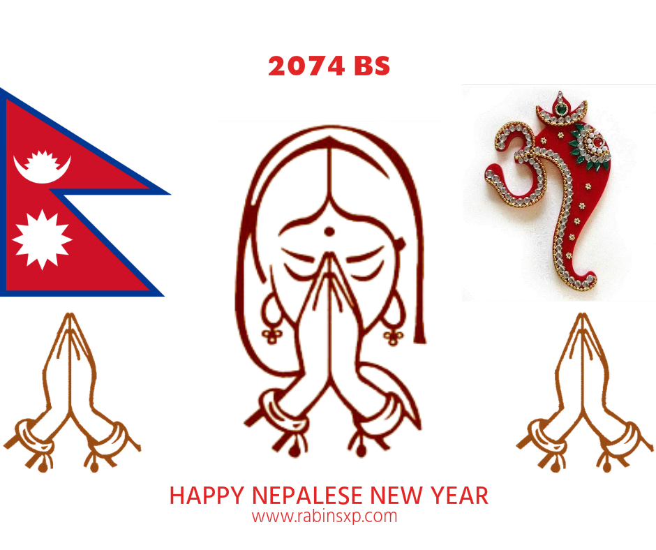 New Year 2074 BS- Flag